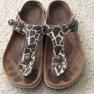 Giraffe Papillio sandals by Birkenstock. 38.